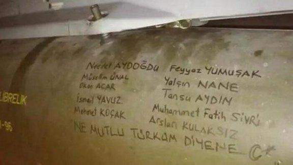 PKK ve DEAŞ'ı Vuran Füzelerin Üzerinde Şehit Askerlerin İsimleri Yazıldı