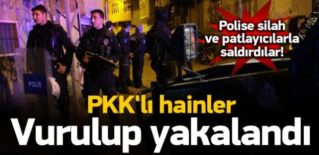 Adana'da Polis'e Saldıran PKK'lılar Tek Tek Bacaklarından Vuruldular!