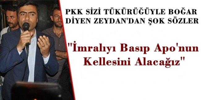 PKK Sizi Tükürüğüyle Boğar Diyen Vekilden Şok Sözler! İmralıyı Basıp APO'nun Kellesini Alacağız!