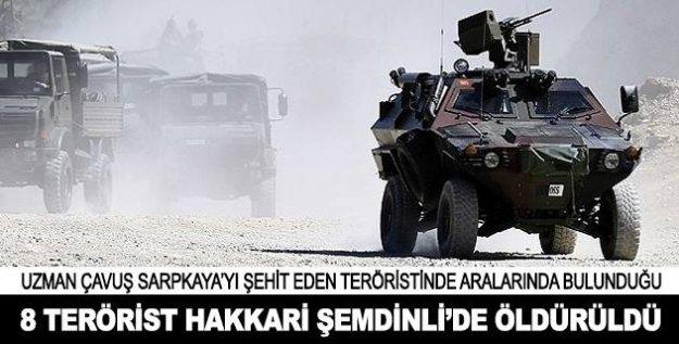 Şemdinli'de 8 Terörist Öldürüldü