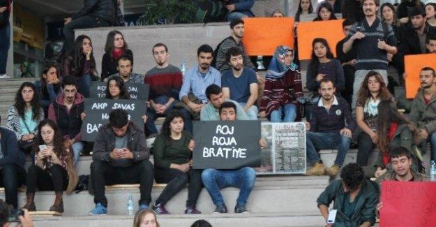 AİBÜ'de Gerginlik! Ankara Patlaması Protesto Edildi