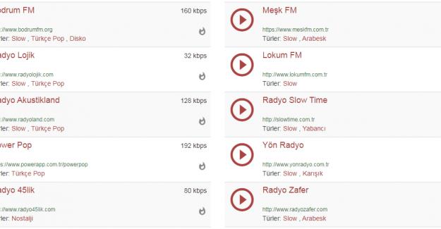 Her Alanda Radyo Dinleme Fırsatı