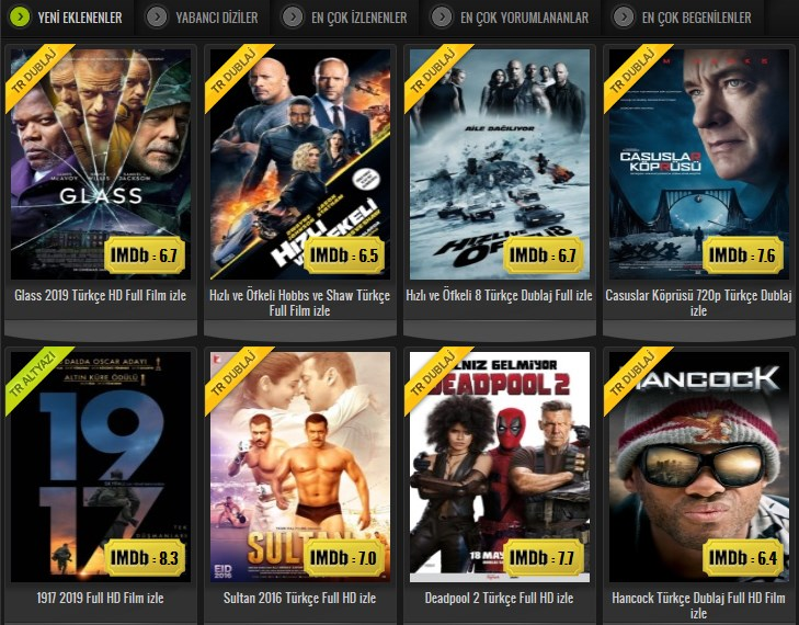 Vizyondaki Filmleri Donmadan Full HD İzle