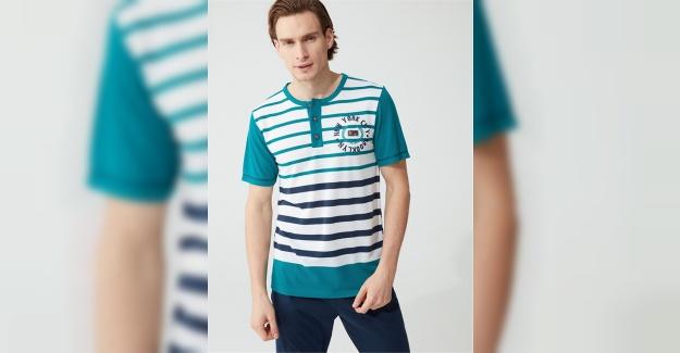 Çizgili Erkek Pijama Modelleri ve Fiyatları Güneş Store'da!
