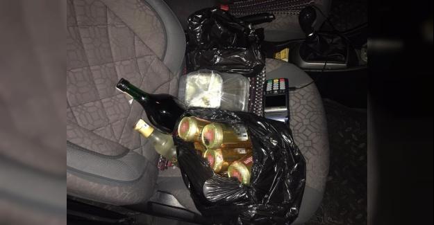 Ticari takside içki satarken yakalandılar