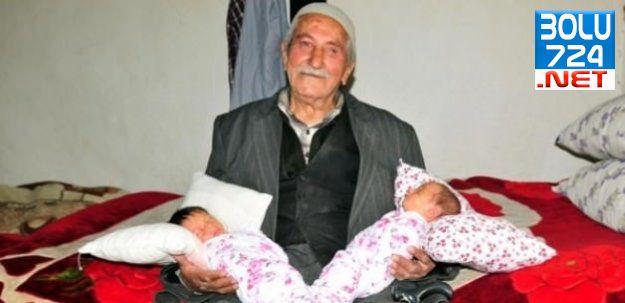 Van'da 85 Yaşındaki Adamın İkiz Bebeği Oldu