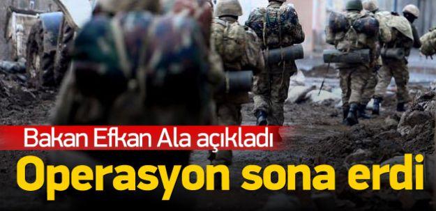 Bakan Efkan Ala Açıkladı! Cizre'de Operasyon Bitti
