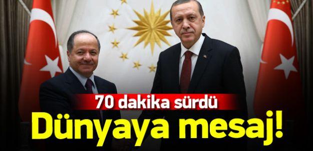 Cumhurbaşkanı Erdoğan ile Barzani Dünyaya Mesaj Verdi!