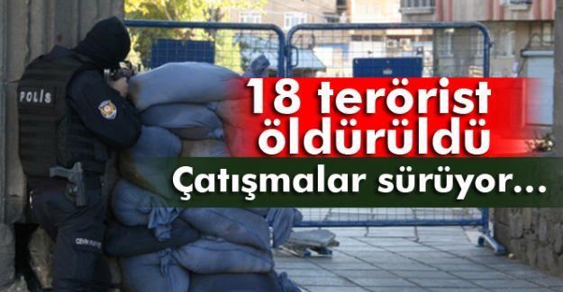 Diyarbakır'da Çatışma 18 Terörist Öldürüldü!