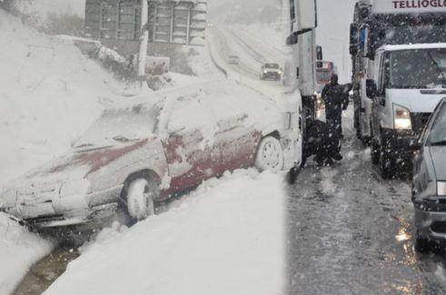 Kar Yağışı Nedeniyle 45 saat Kapalı Kalan Arterin Cezası Ağır Oldu