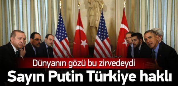 Obama'dan Putin'e Soğuk Duş! Türkiye'nin Hakkı!