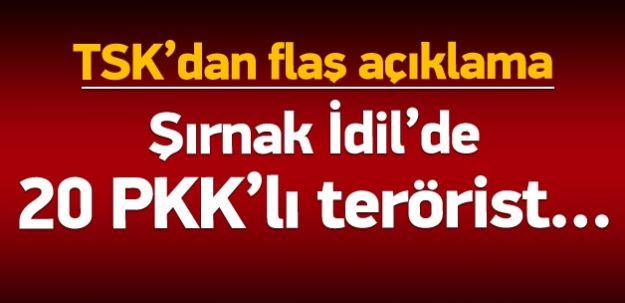 PKK'ya Şok Darbe! İdil'de 20 Terörist Öldürüldü