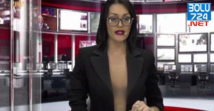 Reyting Uğruna Sütyensiz Haber Programı Sunuyor!
