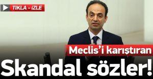 HDP'li Vekilden Mecliste Skandal Sözler! Gerillaya Kurban Olun!( video haber)