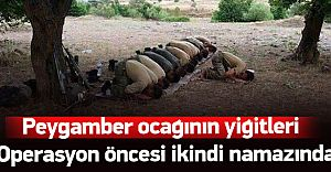 Asker Operasyon Öncesi Namal Kıldı Dua Etti! İŞTE O ANLAR