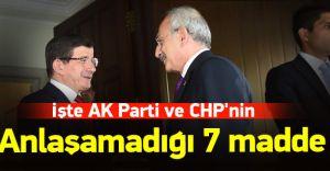 İşte Ak Parti ve CHP'nin Uzlaşamadığı 7 Madde! 1- CHP Din Dersine Karşı...!