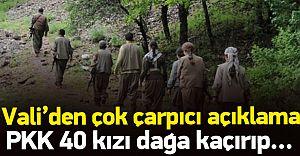 Vali'den Şok Edici Açıklama! PKK  Kızı Dağa Kaçırıp...!
