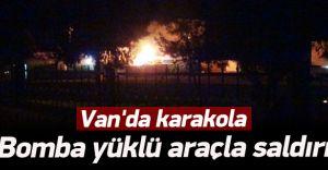 Van'da Bomba Yüklü Araçla Karakola Saldırdılar!