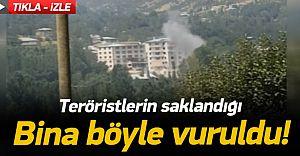 (VİDEO HABER) İşte PKK'lıların Saklandığı Binanın Vurulma Anı!