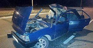 Bolu'da Fecii Kaza! Tır Otomobili Biçti!