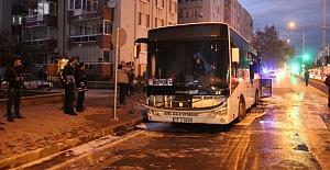 Halk Otobüsü Alevler İçerisinde Kaldı