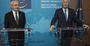 Kılıçdaroğlu Avrupa Konseyi'nde Genel Sekreter İle Görüştü