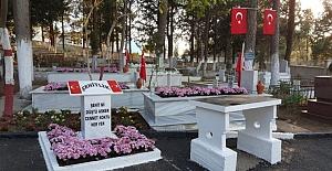 Şehit Mezarlıkları Çiçeklerle Daha Güzel