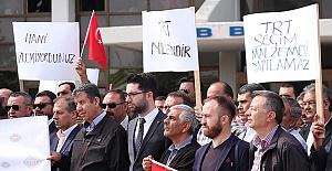 TRT Çalışanlarından Saldırılara Protesto!