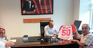 Nevşehir Belediyespor Yöneticileri, Murat Çağlak'ı Ziyaret Etti