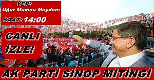 21 Mayıs 2015 Ak Parti (AKP) Sinop Mitingi Canlı İzle! Sinop Mitingi İzle