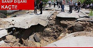 BOLU'da Korkutan Patlama! 20 M. Genişliğinde Çukur Oluştu