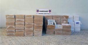 Hakkari'de Kaçakçılara Şok! Tam 102 Bin Paket!