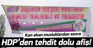 HDP'den Tehdit Gibi Pankart.Yine Van!
