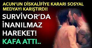 (VİDEO)Survivor'da Kafa Şoku! Bozok Hakan'ı Kafa Darbesiyle Yere Serdi!
