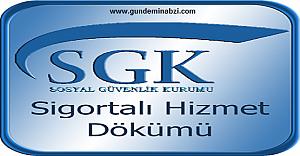 TC İle SSK Sorgulama, SSK Hizmet Dökümü