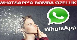 WhatsApp'a Bomba Gibi Bir Özellik Geliyor!